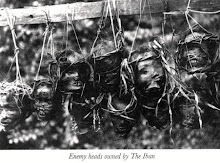 Enemy Heads Smoked By The Dayak Iban Warriors