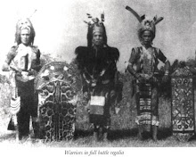Dayak Iban Warrior In Battle Regalia
