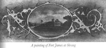 Painting Of Fort James At Nanga Skrang