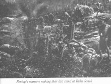 Sketch Of Bukit Sadok War Expedition