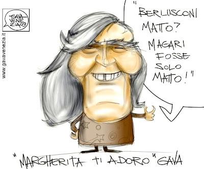 Berlusconi matto Gava satira vignette