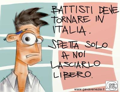 torna in Italia Gava satira vignette