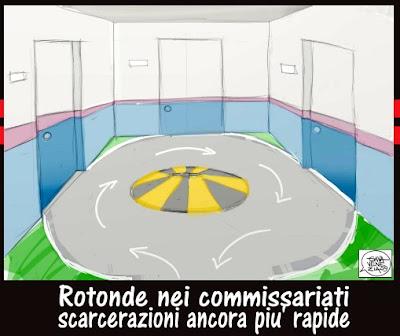 Scarcerazioni brevi domiciliari giustizia Gava satira vignette