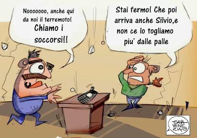 Berlusconi soccorsi Gava satira vignette
