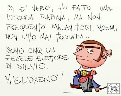 Noemi Berlusconi Gava satira vignette