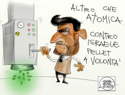 Israele atomica Gava satira vignette