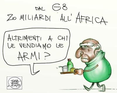 Africa 20 miliardi Armi Gava satira vignette