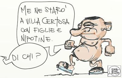 Gava Satira Vignette Villa Certosa Berlusconi