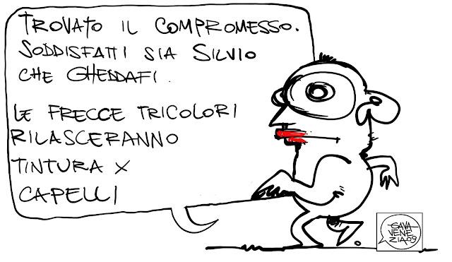 Gava Satira Vignette Berlusconi Gheddafi