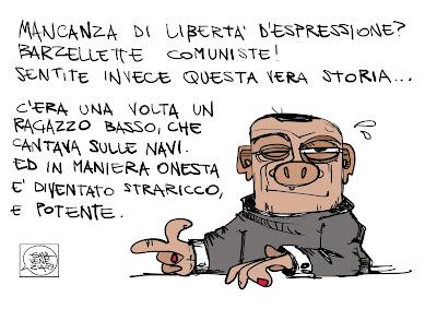Gava Satira Vignette Berlusconi libertà di parola libertà di espressione comuniste