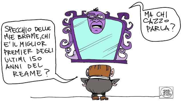 Gava Satira Vignette Berlusconi 150 specchio delle mie brame