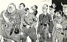 Rosyjska karykatura nazistow