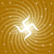 Spiritual swastika-heliocentric background