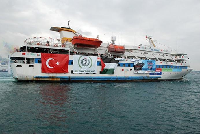 Mavi marmara with geocentric Logo