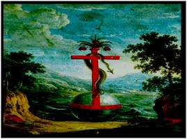 Ang. krucyfiks z wezem-zbawicielem