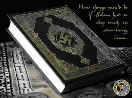 Koran ze swastyka na okladce
