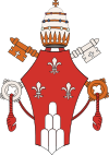 Fleur-de-lys in the coat of arms of Pope Paul VI