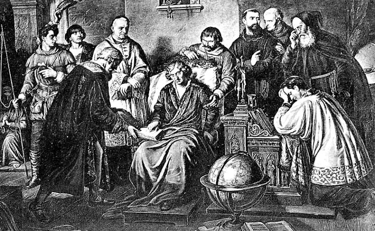 Smierc M. Kopernika po ostatnim namaszczeniu