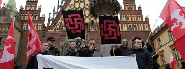 Swastyka na wroclawskim rynku