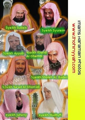 imam mekkah, sudais, shuraim, juhany, ghomidi