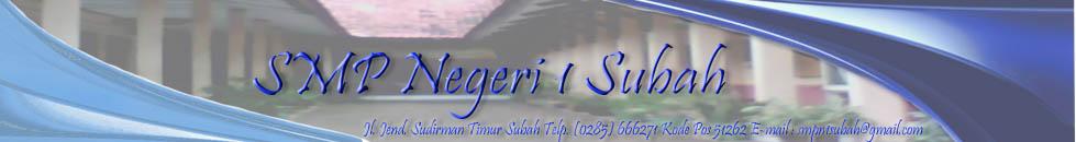 SMP Negeri 1 Subah