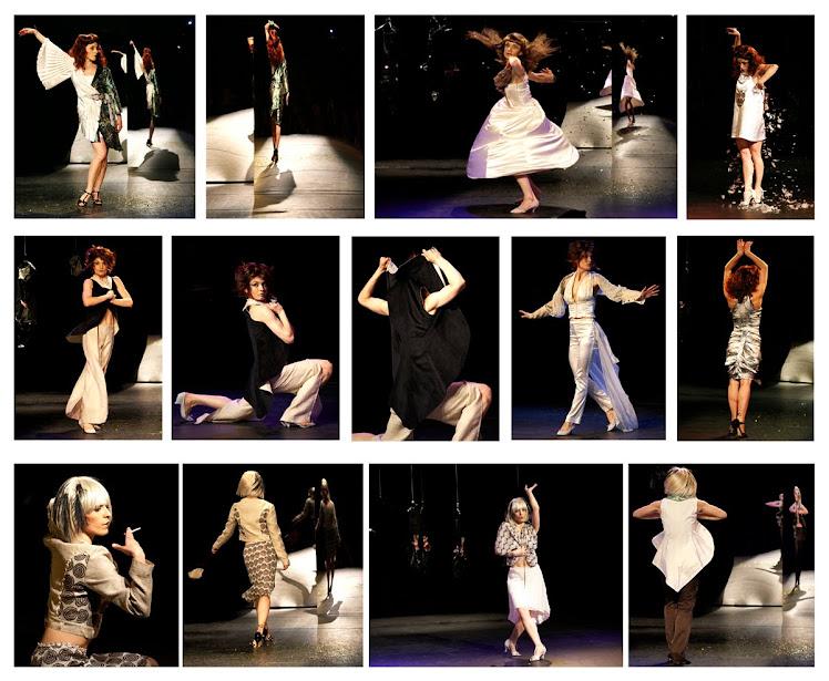 """Défilé """"Femme Caméléon"""" par deux danseuses de la compagnie Carolyn Carlson"""