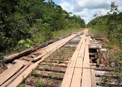 Highway linking Porto Velho to Manaus