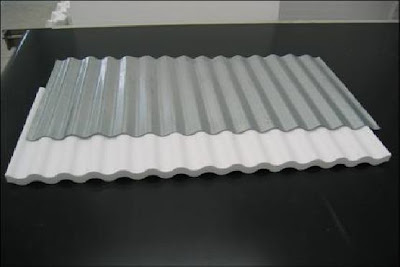 Telhas de aluminio com isopor