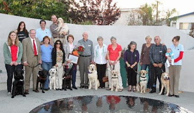 Pat and members of her puppy raising group