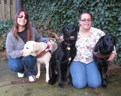 Donna and Tracy with their Guide Dogs