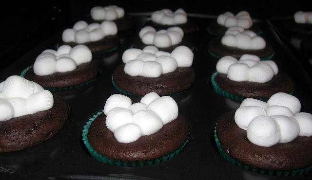 ... things in life...: Hot Chocolate Cupcakes with Mint Kissed Centers