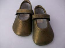 zapatitos oro viejo talla 16