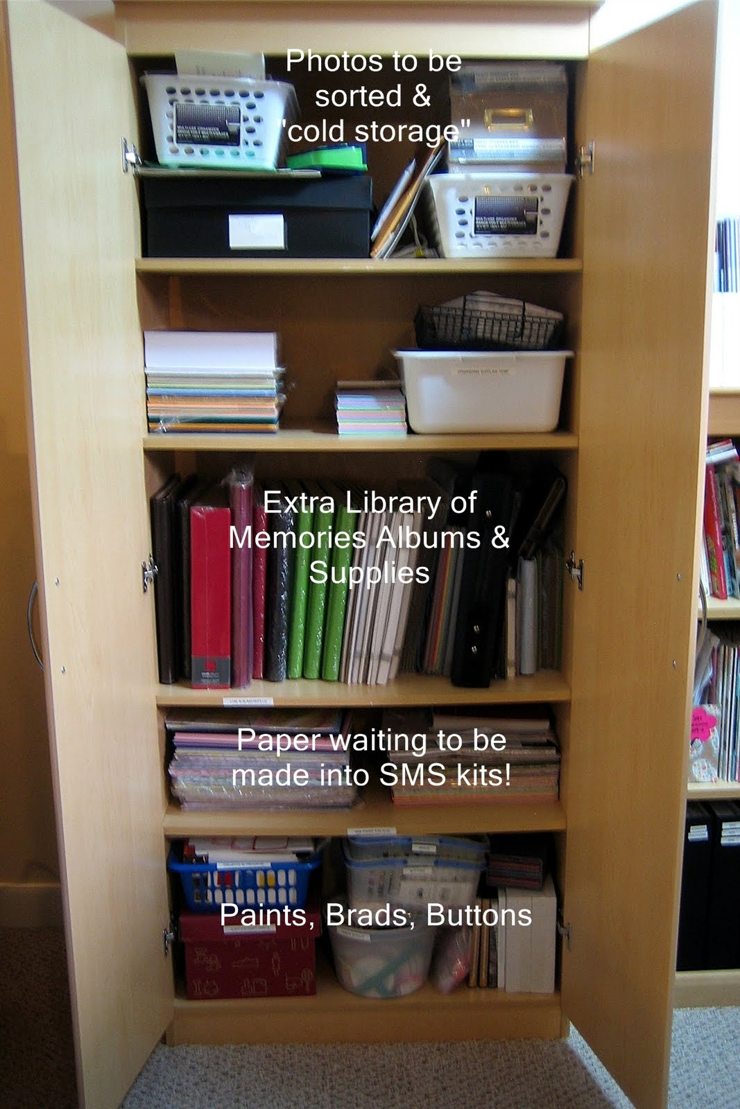 The Shorter Bookcase In Middle Is For Magazines Books And My Library Of Memories Photo Storage Albums