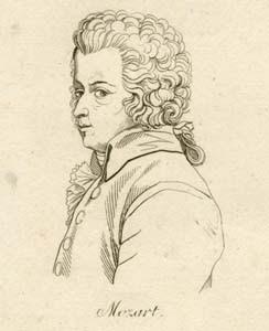 Wolfgang Amadeus Mozart - Imagem NYPL Digital Library