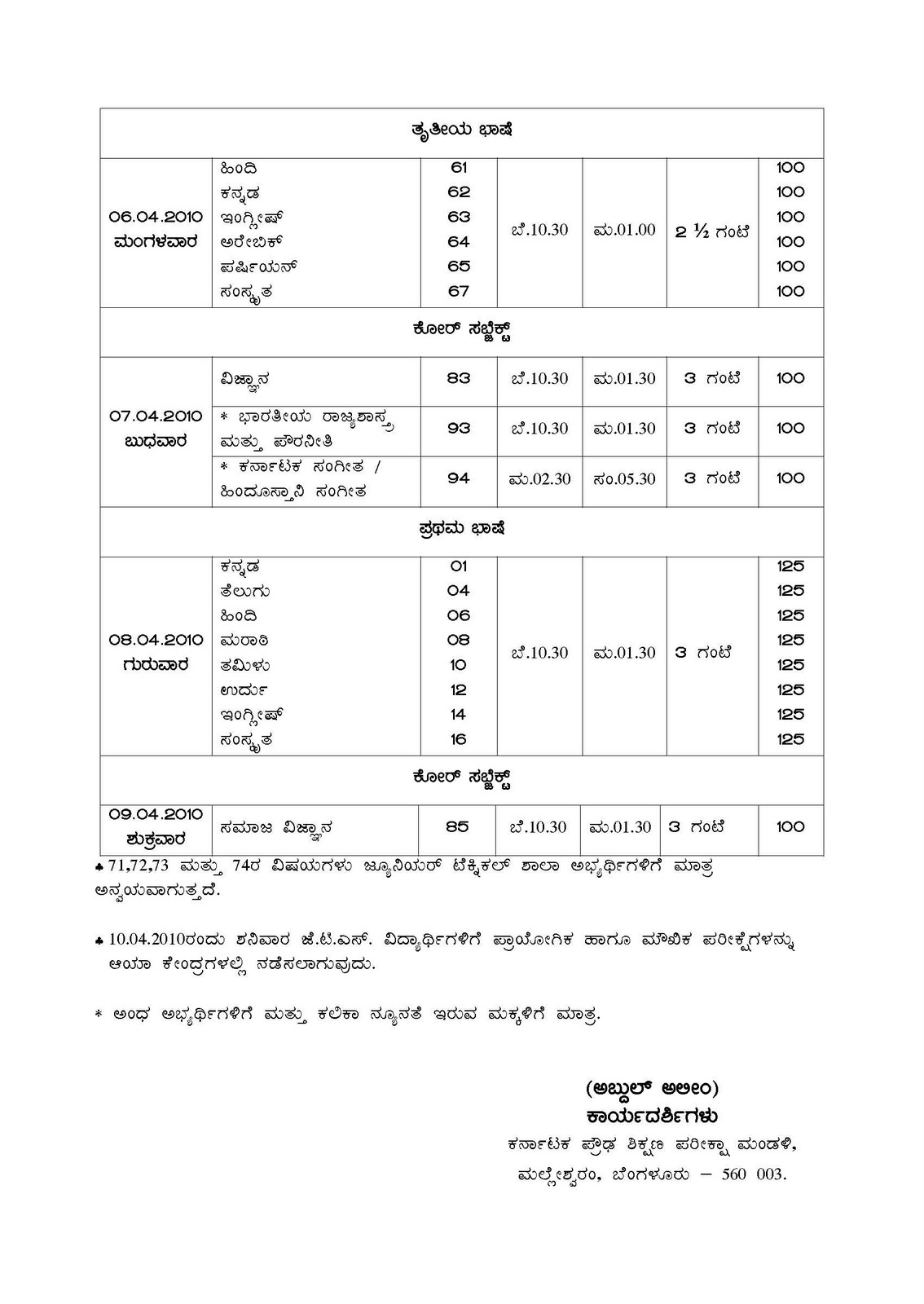 sslc model question paper karnataka 2010 download