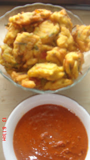 Cucur Udang Kuah Kacang & Sup Ayam