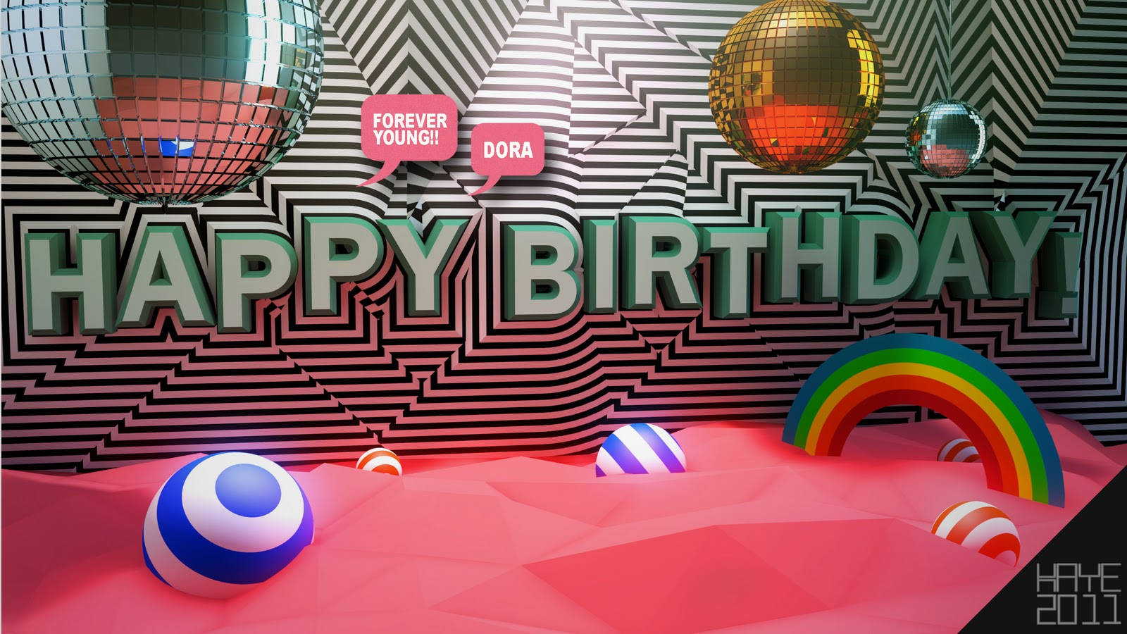 3d poster design software - I Made This Poster With Cinema 4d For My Firend Dora S Birthday Party I Also Want To Use This Style In My Project In This Scene I Built A Room For Lighting