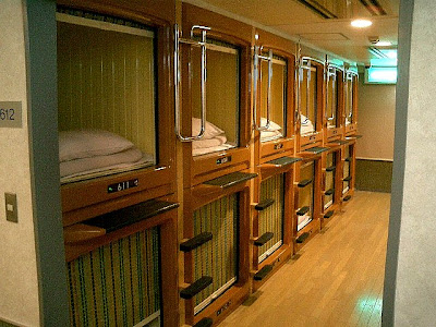 weird capsule hotel in japan damn cool pictures. Black Bedroom Furniture Sets. Home Design Ideas