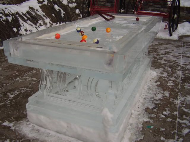 Unusual and creative billiard tables damn cool pictures for Strange table