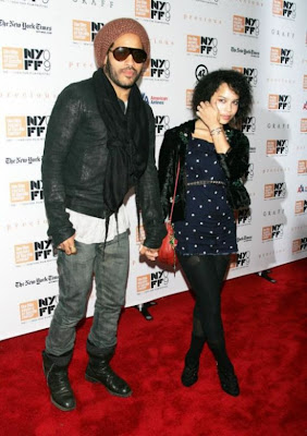 Lenny  Kravitz and daughter Zoe