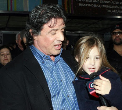 Sylvester  Stallone and daughter Rose