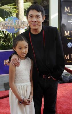 Jet  Li and his daughter Jane