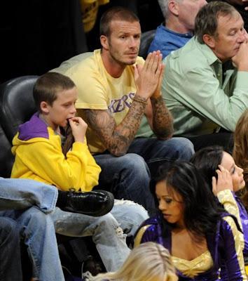 David  Beckham and son Brooklyn