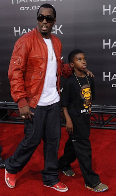 Sean  Diddy Combs and son Justin