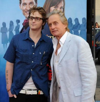 Michael  Douglas and son Cameron