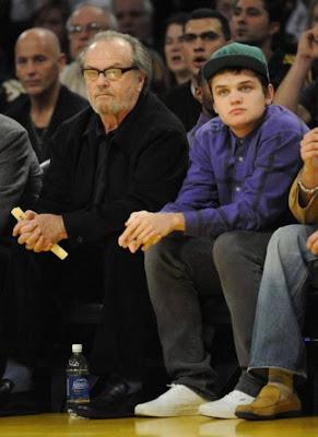 Jack  Nicholson with son Raymond