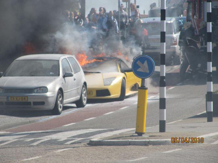Lamborghini Murcielago Caught Fire In Netherlands Damn