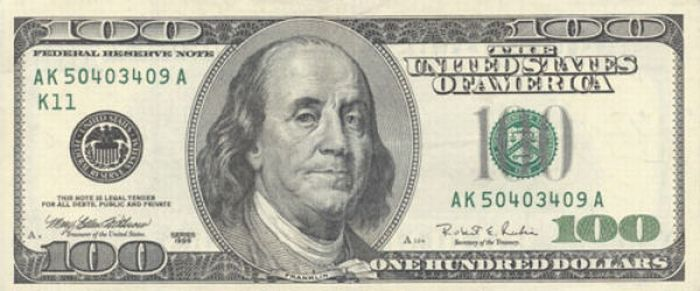 american 100 dollar bill back. new 100 dollar bill back.