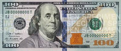 nova nota de 100 dólares