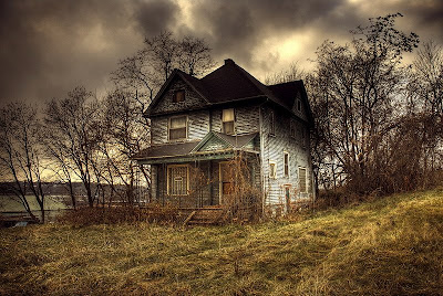 Extremely creepy abandoned house